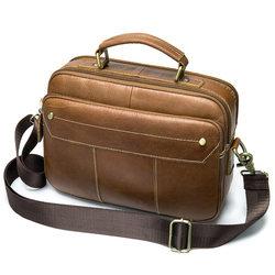 Men's Briefcase Bag Laptop Bag Business Tote For Document Office Portable Laptop Shoulder Bag Multi-Pocket Large Capacity Hot