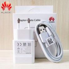 Carregador de parede original huawei 5v 2a, adaptador 100cm, cabo micro usb de dados para p6 p7 p8 p9 p10 lite mate 10 lite honor8x