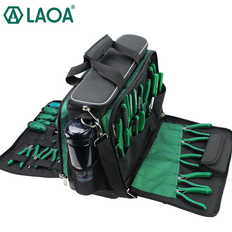 LAOA Multi-function Tool Kit After-sales Shoulder Bag Maintenance Bag Large Thick Canvas Oxford Cloth Electrical Bags