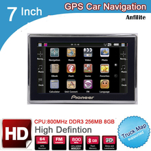 Car GPS Navigation Maps 256M Europe/usa 7inch HD for Belarus/kazakhstan Canada Canada