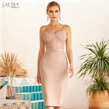 Женское кружевное платье без рукавов adyce вечернее облегающее