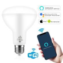 Ampoule LED intelligente à large faisceau, wi-fi, BR30, Tuya, RGB + C + W, variable, 13W E26, commande vocale, Compatible avec Alexa Google Home