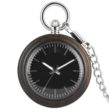 цены Wood Large Dial Quartz Pocket Watch Men Alloy Rough Chain Wooden Pendant Watch Women Necklace Gift reloj de bolsillo mujer