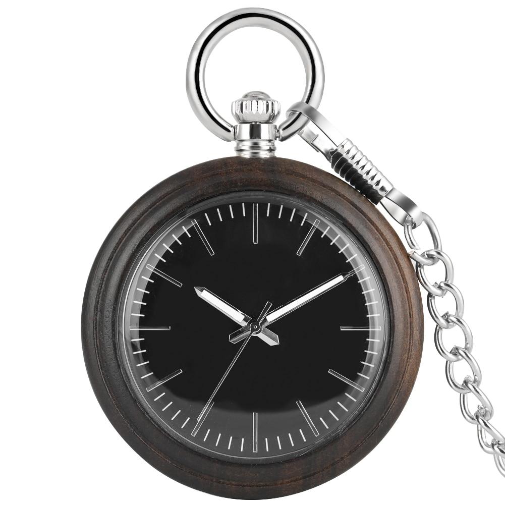 Relógio de Bolso de Quartzo Pingente de Madeira Reloj de Bolsillo Madeira Grande Dial Masculino Liga Corrente Áspera Relógio Feminino Colar Presente Mujer
