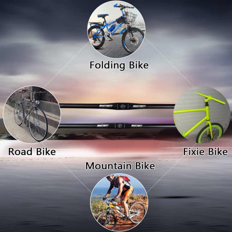 MIGHTYDUTY dağ bisikleti düz gidon Ultralight alüminyum alaşım yol bisiklet düz çubuk bisiklet sürme aksesuarları parçaları