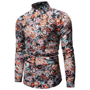 Image 3 - Camisa de Cachemira para Hombre, diseño de marca, Camisas de vestir ajustadas con estilo, camisa de manga larga para Hombre, Camisas sociales informales para fiesta