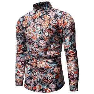 Image 3 - Mens Paisley เสื้อการออกแบบแบรนด์ Stylish Slim Fit เสื้อผู้ชายเสื้อเชิ๊ตแขนยาว Homme Casual Camisas Hombre