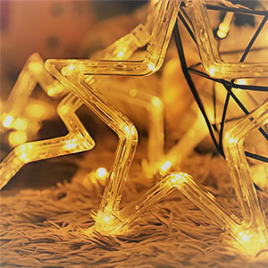 Image 5 - Remote LED Curtain Lights 12 Star 138 LED Window Icicle String Light 8 Mode Garland Christmas Lights Outdoor Decor Wedding Home