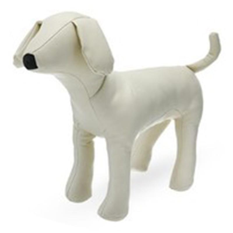 Leather Dog Mannequins Standing Position Dog Models Toys Pet Animal Shop Display Mannequin White M