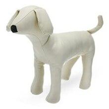 Кожаные манекены для одежды для собак, стоячие модели собак, игрушки для домашних животных, демонстрационный манекен для магазина, Белый M