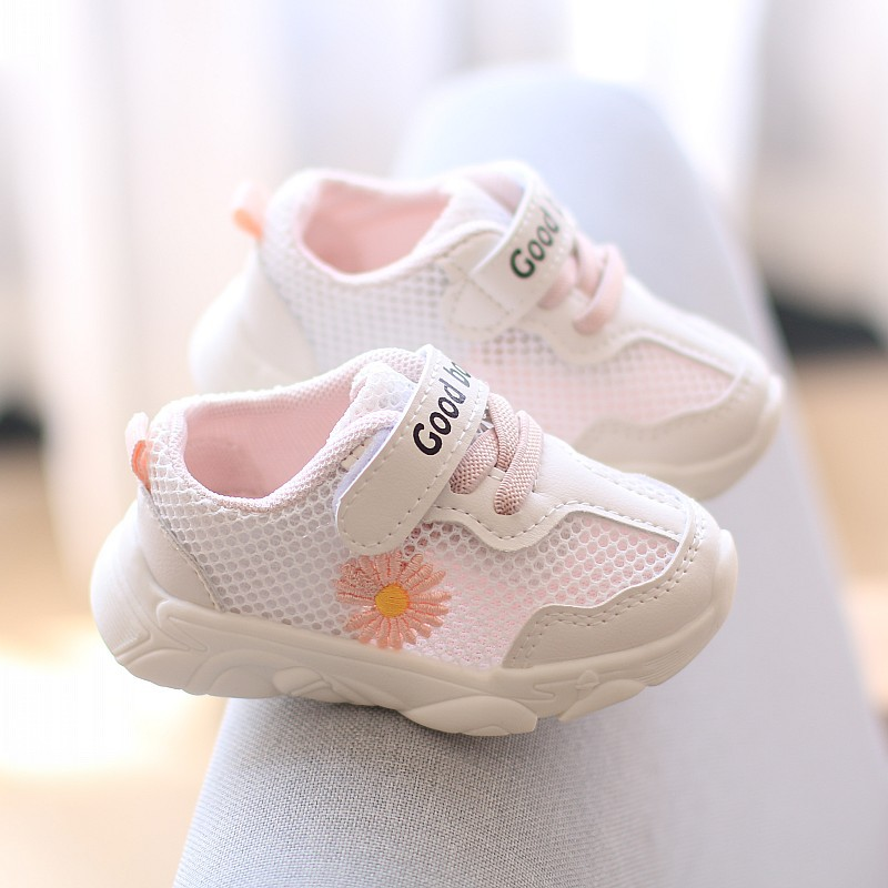 2020 Summer New Unisex Baby Fashion Sneakers Mesh Toddler Sport Shoes Breathable Baby Boys Girls First Walkers Sale