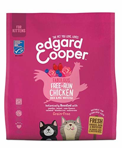 Edgard & Cooper Fresh Free-run Chicken, Duck & Fish | Dry Kitten Food | With Rosehips, Rose Flowers & Blueberries | Slow Cooked