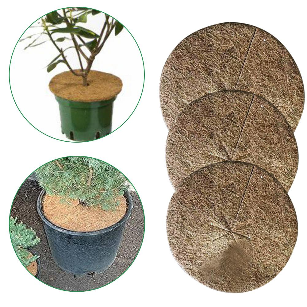 10PCS Plants Cover Potted Plants Winter Protection Coconut Mulch Cover Coir Mat For Garden Potted Plant Botany Keep Warm 3 Size