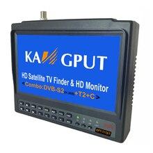 KPT 717S/T DVB T2 S2 C Récepteur Combiné 7 pouces LCD Satfinder HEVC 1080P Full HD Détecteur De Satellite Numérique H.265 Sat Finder