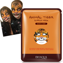 BIOAQUA Animal Face Masks Skin Care Repair Facial Sheep/Panda/Dog/Tiger Mask Moisturizing Cute Hydrating Facemask