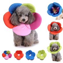 Adjustable Wound Healing Soft Cone Protection E-Collar Beauty Flower Dog Cat Head Cover Collars Anti-bite Protective Covers D35