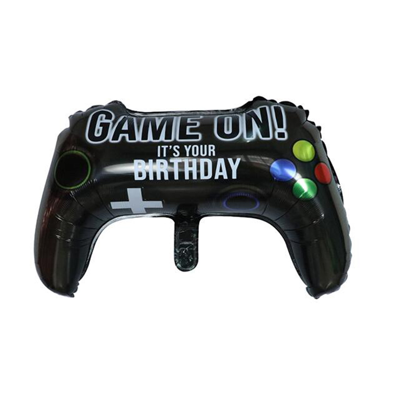50pcs NEW Black Gamepad Boy Inflate Toy GAME ON Foil Balloon Kids Birthday party Decoration Game Match Props Gaming Tool Balloon image