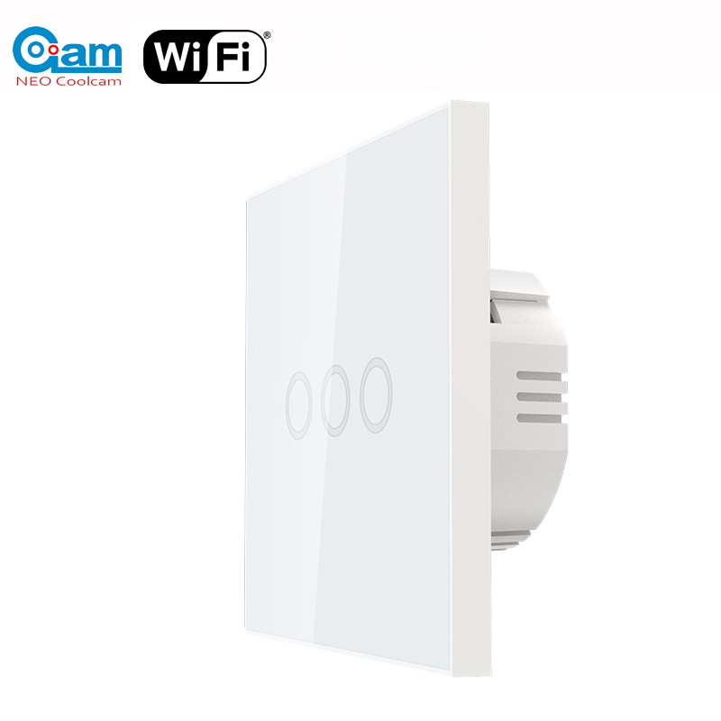 NEO Coolcam 5A Wifi Wall Light Switch 3 Gang Touch Wall Touch Switch Support Alexa,Google Assitant IFTTT