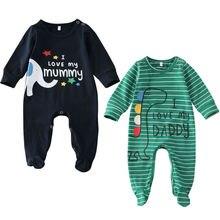 Одежда для сна для маленьких мальчиков полосатые халаты детский вязаный комбинезон унисекс для новорожденных мальчиков, комбинезон, боди, одежда для детей от 0 до 6 месяцев