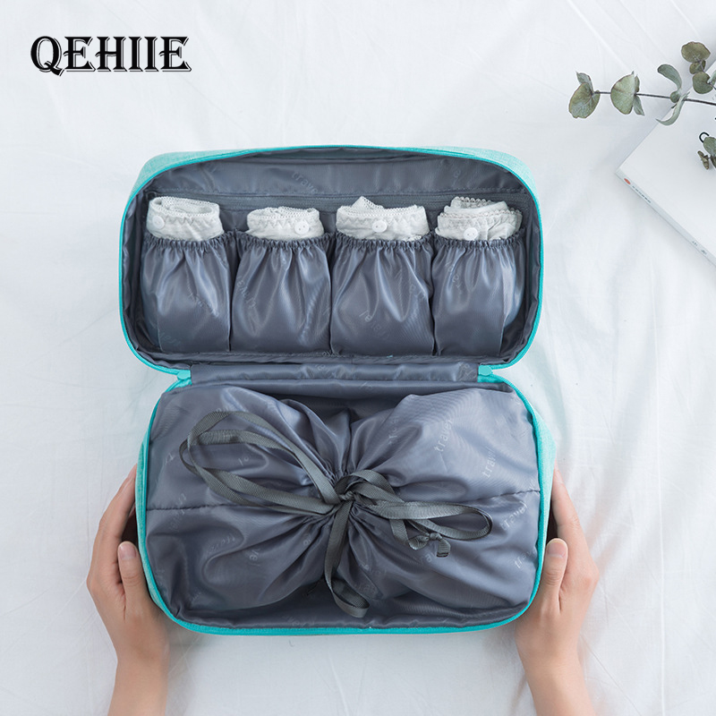 QEHIIE Travel Underwear Bags Women's Cosmetic Makeup Clothing Bra Organization Weekend Overnight Pouch Accessories Product Stuff