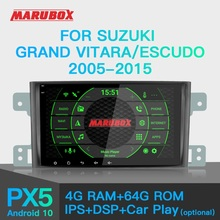 Autoradio MARUBOX PX6 Android 10 pour Suzuki Grand Vitara, Escudo 2005 2016 lecteur multimédia de voiture GPS Audio stéréo automatique DSP