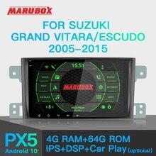 Marubox PX6カーラジオのandroid 10スズキグランドエスクード、エスクード2005 2016車のマルチメディアプレーヤーgpsオーディオオートステレオdsp