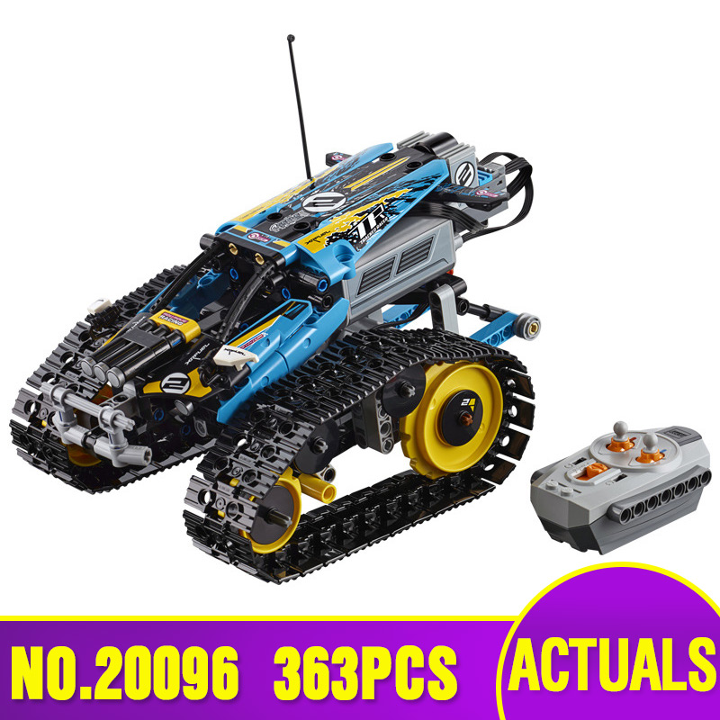 20096 Technic Car Series The Lepining 42095 Remote Control Stunt Racer Set Building Blocks Bricks Kids Car Toys Birthday Gifts