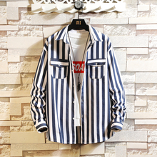 Large Sizes Men Long Sleeve Shirt Double Pocket Striped Mens Shirts Autumn Men Long Sleeve Shirt цены