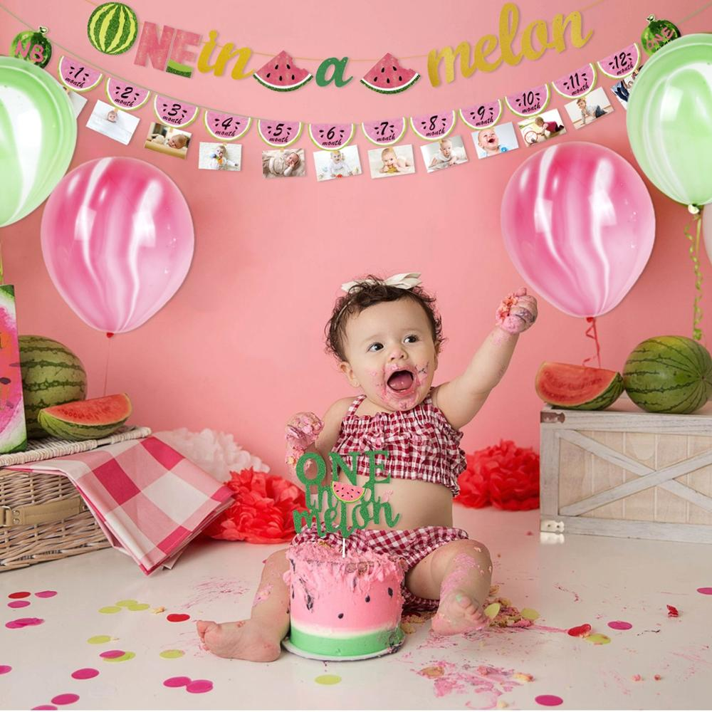 Douche de bébé sexe révéler bannière doré paillettes premier anniversaire décor