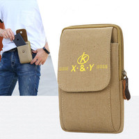 2020 new Men's Belt Leather Case Phone Bag Wear Belt Wallet Shoulder Bag Coin Purse Wallet Phone Pocket Men's Large Capacity 1