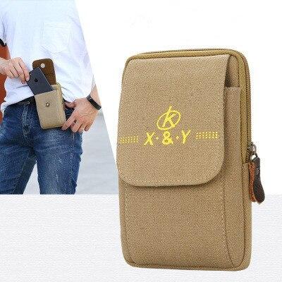 2020 new Men's Belt Leather Case Phone Bag Wear Belt Wallet Shoulder Bag Coin Purse Wallet Phone Pocket Men's Large Capacity 1