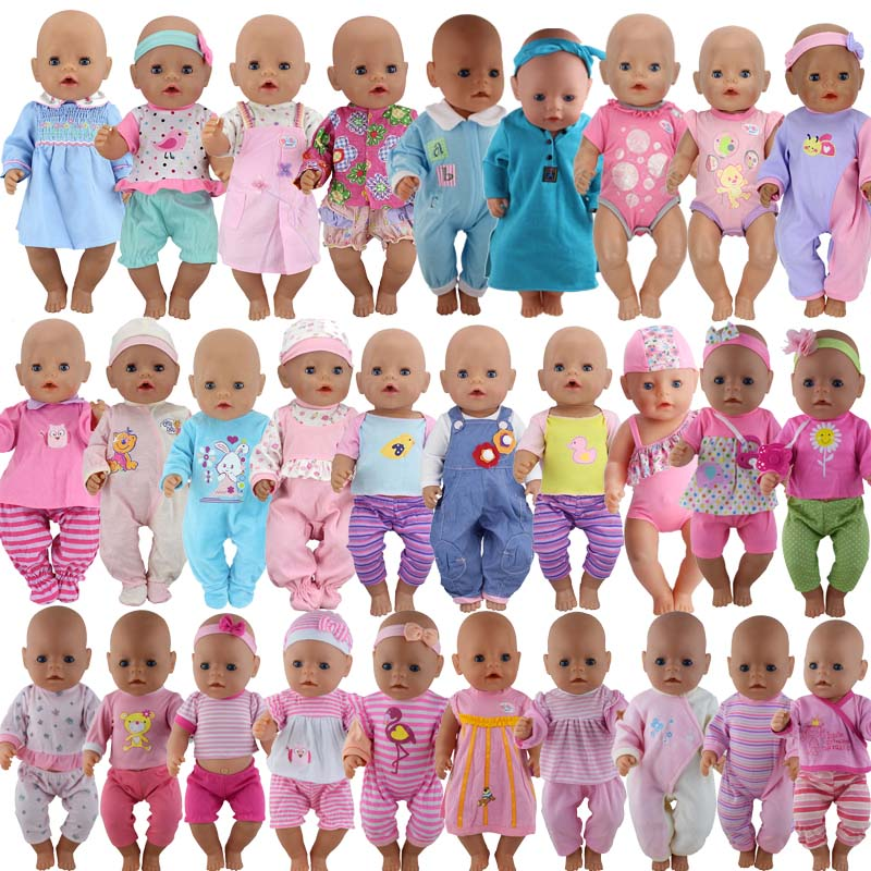20pcs/set Fashion Clothes Suit Fit For 43cm Baby New Born Doll 17 Inch Dolls Clothes,Children Best Birthday Gift