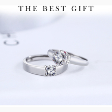 Fashion Luxury Silver S925 Sterling Silver Jewelry For Men And Women Couple Crystal Zircon Ring For Engagement s925 sterling silver classical minimalist ring jewelry men women fashion couple ring