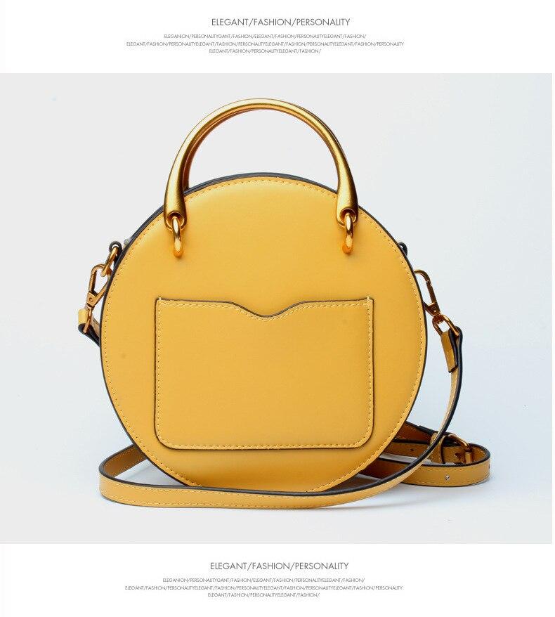 Роскошные дизайнерские женские сумки из натуральной кожи, металлическая маленькая круглая сумка, женские сумочки, клатч, женская сумка через плечо - 4