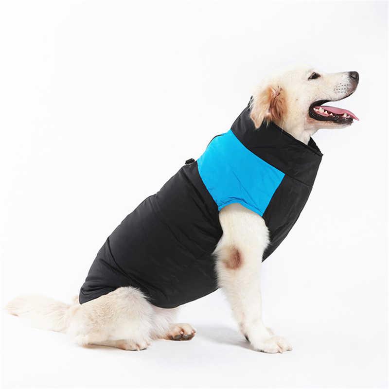 Inverno roupas para cães de estimação cachorro quente grande casaco cachorro roupas à prova dwaterproof água pet colete jaqueta para pequeno médio grande cães golden retriever