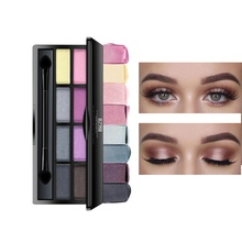 8-Color Eyeshadow Palette Pigment Waterproof Non-dizzy Dyeing Matte Shimmer Eye Shadow Powder Beauty Eye Cosmetics