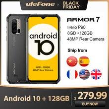 Ulefone móvil Armor 7, Android 10, 2,4G/5G, 128GB + 8GB, Helio P90, IP68, cámara de 48MP, 4G LTE, versión Global
