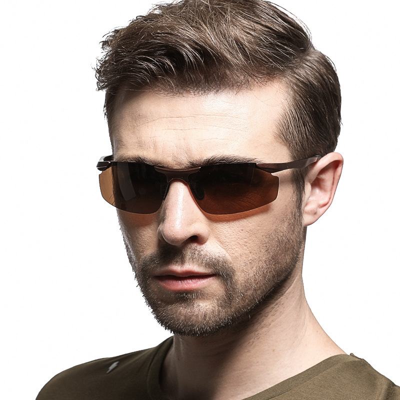 2019 new fashion men's polarized sunglasses men aluminum magnesium alloy frame glasses casual wild sports style sunglasses