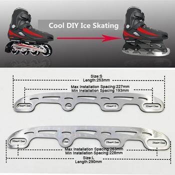 1pc Roller Ice Skates Blade Cooltaki Skate Shoes Ice Blade Multi Purpose Ball Blade Full Set For Inline Skates Patines