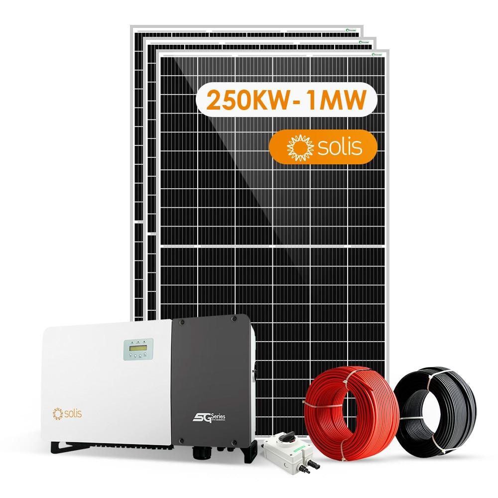 sunpal sistema solar 100kw 200kw 250kw 300kw 400kw 500kw 1000kw na grade para uso comercial
