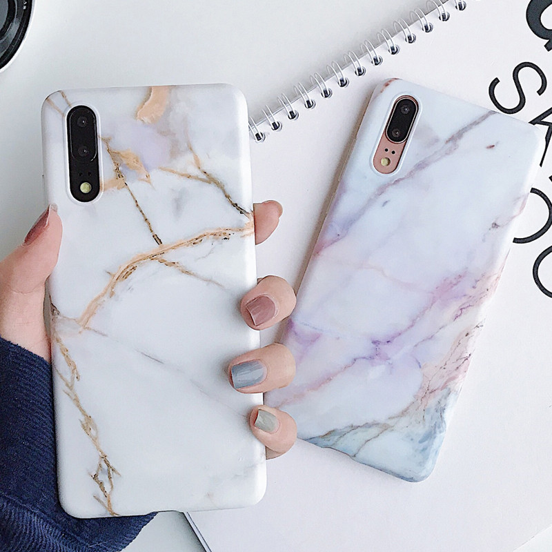 Classic Marble Texture Soft Case for Huawei P30 P20 Lite Pro Mate 20 lite Protective Silicone