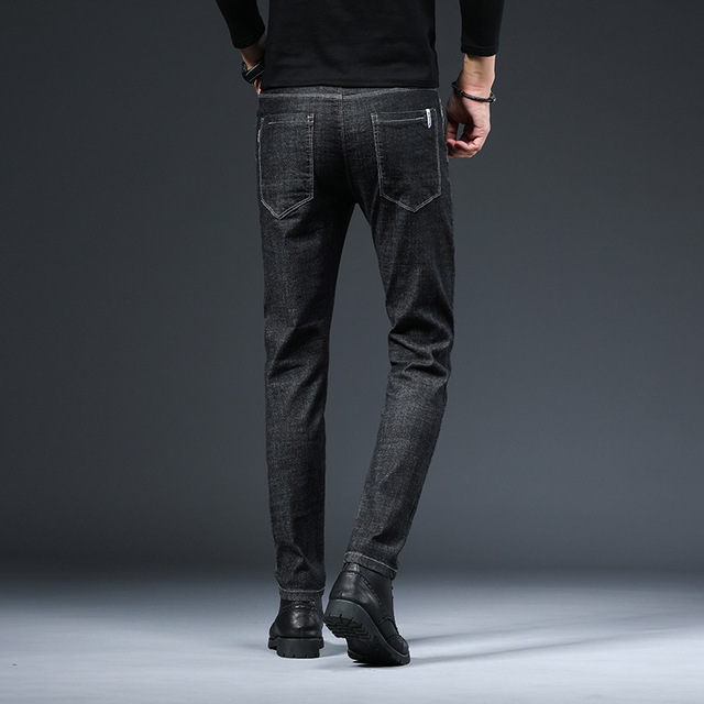 ICPANS Korea Skinny Jeans Men Slim Fit Black Blue Elastic Waist Pencil Denim Pants Men 2020 Spring Summer 2