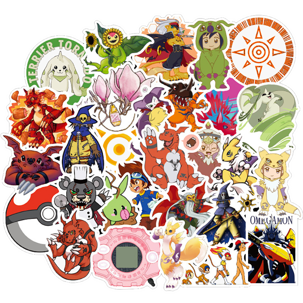 10/30/50PCS Digimon Anime Waterproof Graffiti Stickers Motorcycle Travel Luggage Guitar Skateboard Classic Toy Sticker For Kid