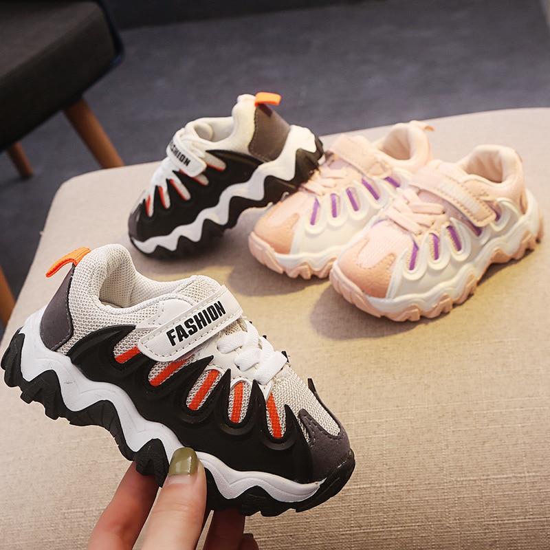 2020 New Spring Casual Children Sneaker Kids Footwear Running Shoes Trainers Boys Girls Stripe Children Sport Canvas Shoe D01251