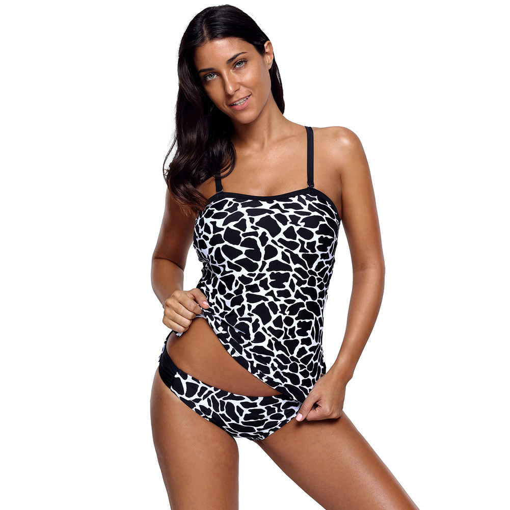 Pa Meng Europe And America Summer New Style Plus-sized Swimwear Wireless Cup Push Up Triangular Low-Rise Two-piece Swimsuits 410