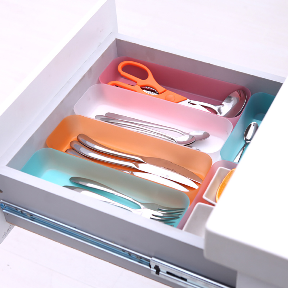 1Pc Adjustable Kitchen Drawer Organizer and Cutlery Divider Case for Home and Restaurant