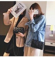 2020 Spring New Style WOMEN'S Bag Shoulder Bag Korean-style Solid Color Rhombus Shoulder Bag Fashion Women's Simple Chain Bag punk style solid color and rivets design women s shoulder bag