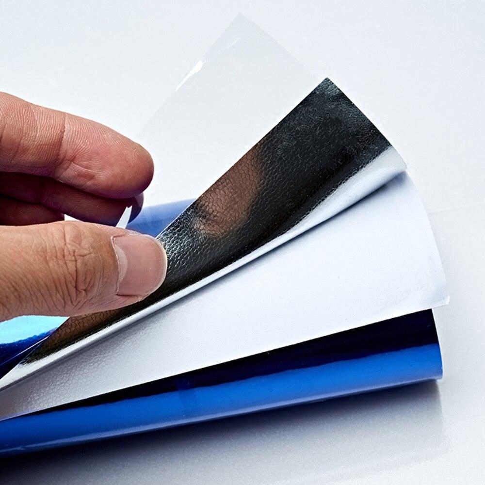 Купить с кэшбэком Chrome Mirror Gloss Car Whole Body Vinyl Wrap Sticker Roll Glossy Film Metallic Decals Car Styling 18Mx1.52M