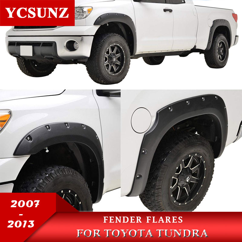 Fender Flares Wheel Arch For Toyota Tundra 2007 2008 2009 2010 2011 2012 2013 Double Cabin With Bolt Mudguards Aliexpress