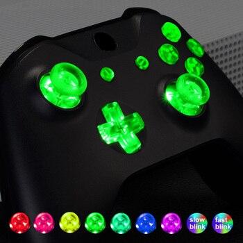 Многоцветный светящийся D-pad Thumbstick Start Back Кнопка ABXY (DTF) светодиодный комплект для Xbox One standard, Xbox One S X контроллер